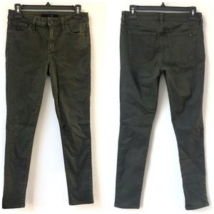 Joe's Jeans coated dark green skinny jeans